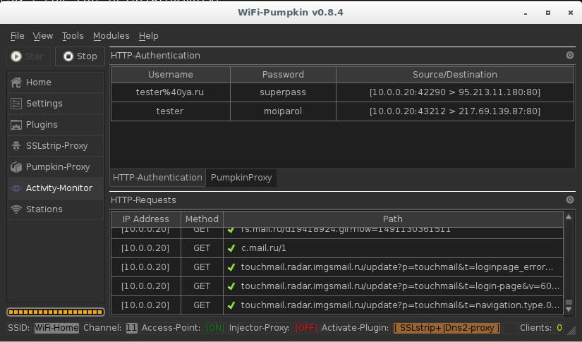 WiFi-Pumpkin (ранее 3vilTwinAttacker) - Инструменты Kali Linux